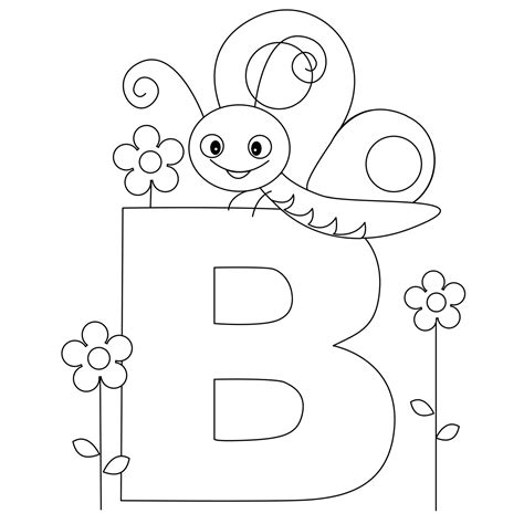 letter b coloring pages to and print for free 615 | 18 334