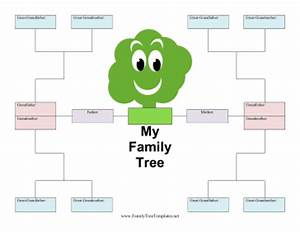 kid family tree template With blank family tree template for kids