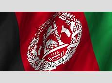 Afghan Flag In The Wind Arkivvideoopptak 772294
