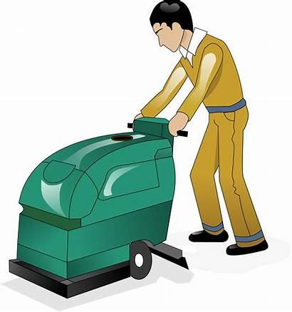 Floor Cleaning Clipart Cartoon Clean Transparent Scrub