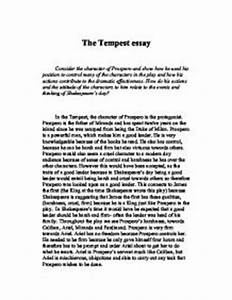 Essays On The Tempest  Types Of Essays Essay Topics On The Tempest  Essay Topics On The Tempest Youtube Fine Art Dissertation Topics I Need Help Creating A Business Plan also Examples Of A Proposal Essay  Essay Papers For Sale