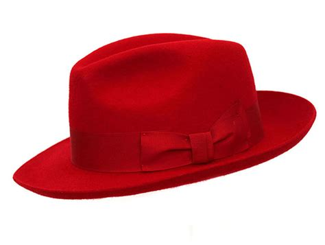 red mayfair fashion fedora denton hats