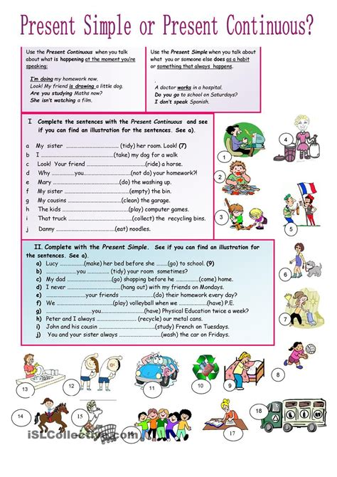 present simple or continuous tenses