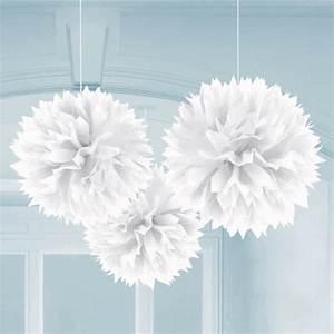 Papier De Soie Blanc : acheter boule pompon papier de soie blanche 25cm badaboum ~ Farleysfitness.com Idées de Décoration