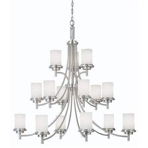 sea gull lighting chandelier sea gull lighting winnetka 15 light brushed nickel