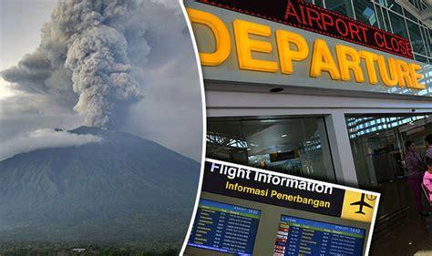 bali volcano latest airport remains shut   day