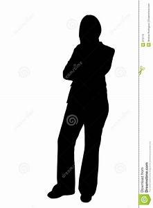Business Woman Standing Silhouette Illustration Stock ...