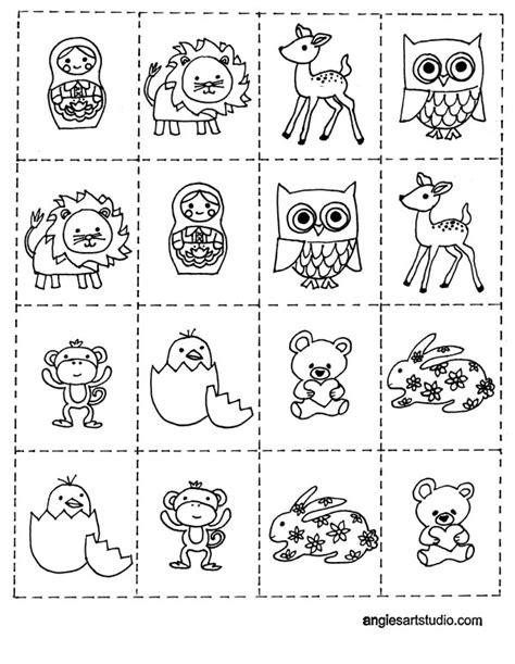 coloring page  memory game  kids angies art