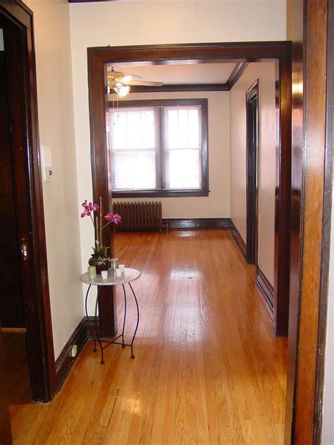 just look at that beautiful dark wood trim apartments