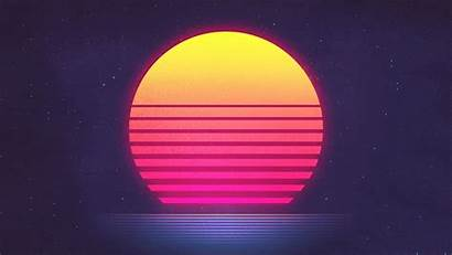 Retro Synthwave Wave Wallpapers Sunset Fm Backgrounds