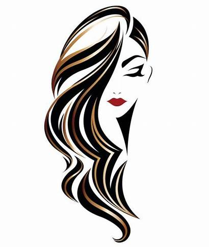 Hair Illustration Vector Background Woman Icon Face