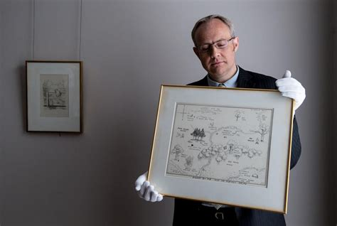 Original Map Of Winnie-the-pooh's Hundred Acre Wood Up For