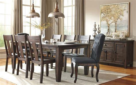 Trudell Dark Brown Rectangular Extendable Dining Room Set