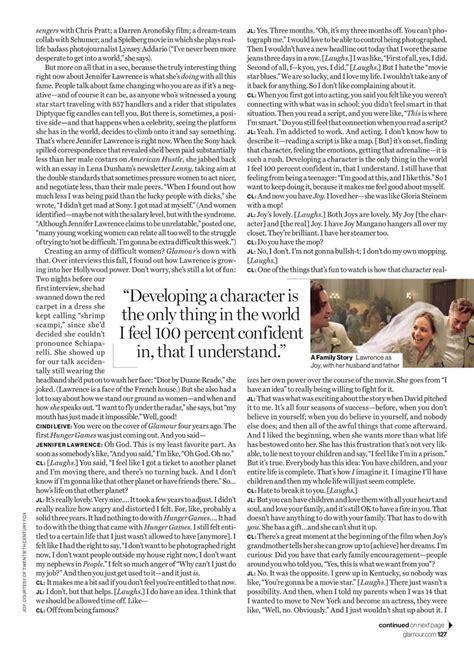 Jennifer Lawrence Glamour Magazine February 2016 Issue