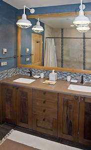 Professional39s corner bathroom lighting adds bold touch for Barn lights for bathroom