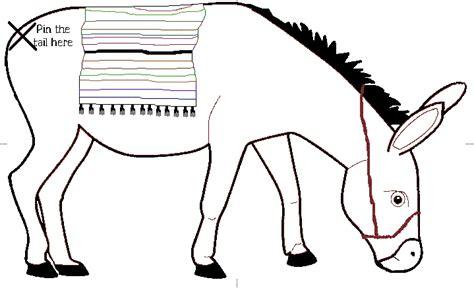 printable pin  tail   donkey reference