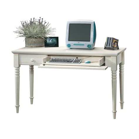 sauder harbor view desk antique white shop sauder harbor view antiqued white writing desk at