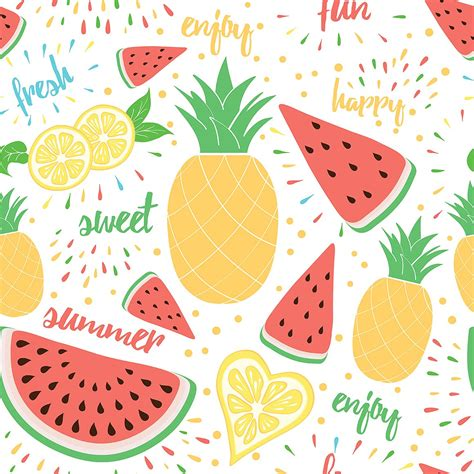 Animated Fruit Wallpaper - 6 tropical fruits templates graphic patterns creative