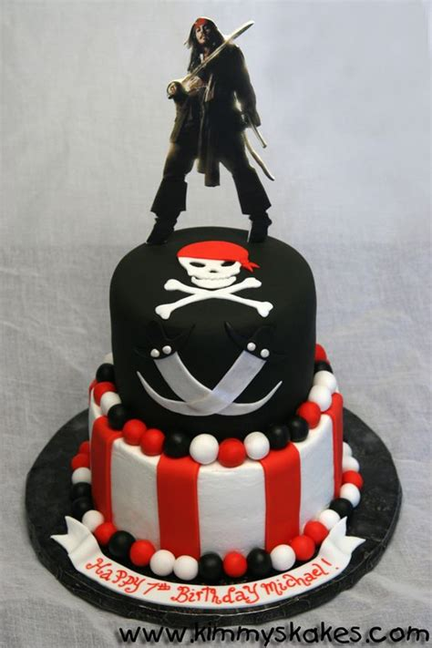 pirates   caribbean cake pirate birthday party