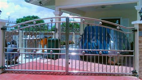 stainless steel gate fence society glass gabriel builders