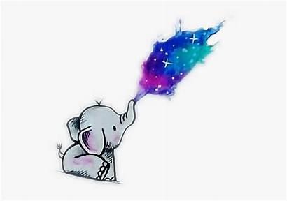 Kawaii Elephant Anime Galaxy Purple Clipart Clipartkey