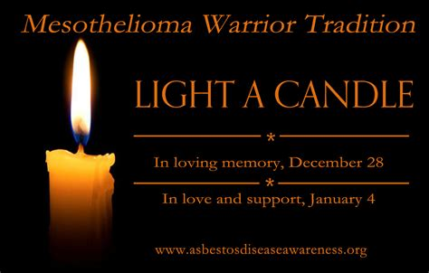 mesothelioma warrior candle lighting tradition
