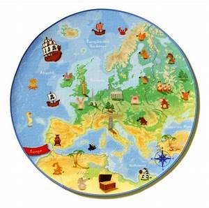 Teppich Für Kinder : kinder teppich spielteppich europa karte 100cm rund ebay ~ A.2002-acura-tl-radio.info Haus und Dekorationen
