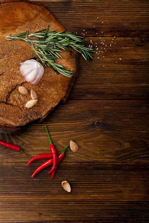 fresh salad ingredients  wooden background food