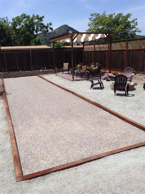 how to build a bocce court diy pin by joe yeager on backyard pinterest