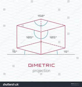 Frame Object Axonometric Perspective Dimetric Grid Stock