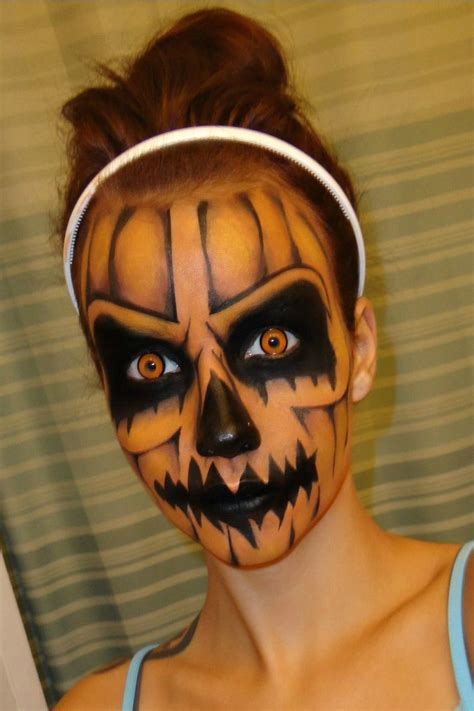 52 Best Scary Halloween Face Painting Designs Images On