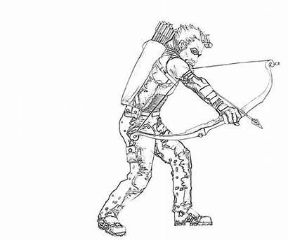 Arrow Coloring Pages Printable Weapon Season Popular
