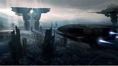 Future Wallpapers Spaceship Desktop Ships Futuristic Imagebank