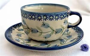 Tasse Mit Stövchen : original bunzlauer keramik tasse mit untertasse dekor agnes ~ Orissabook.com Haus und Dekorationen