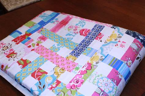 Jelly Roll Pieces Stitched Together
