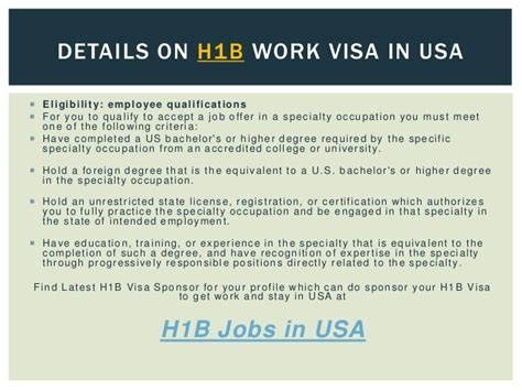 All Types Of Visa In Usa Get Details On Working Visa