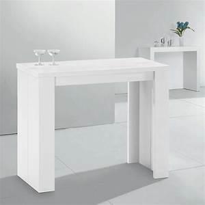 Table Console Haute Extensible