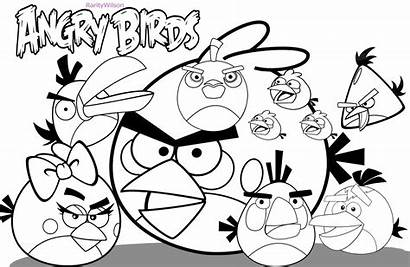Angry Birds Coloring Pages Colors