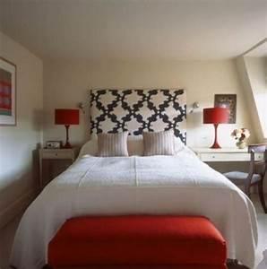 Tete De Lit Rouge : chambre coucher 103 grandes id es ~ Teatrodelosmanantiales.com Idées de Décoration