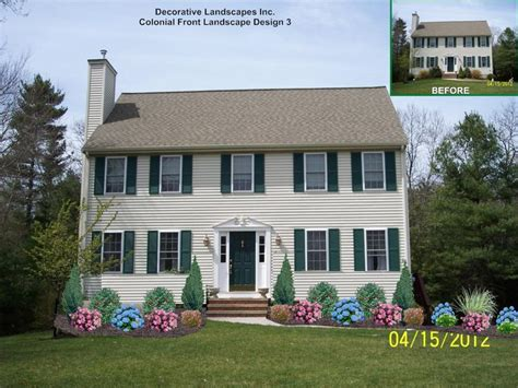 Colonial Home Design Ideas by Colonial House Landscaping Landscape Design With