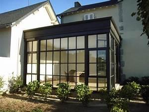 Verriere Atelier Exterieur : veranda verriere pr sentation de verri re v randa en acier maison pinterest ~ Melissatoandfro.com Idées de Décoration