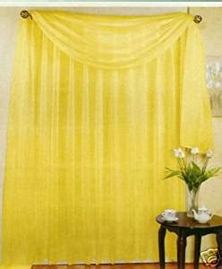 bright colorful kitchen curtains set of 2 84 quot bright yellow sheer voile 4906