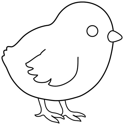 chicken template 7 best images of printable and chicken baby outline template preschool chicken