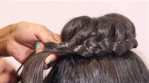 How To Create An Easy Quick Lace Braided Bun Hairstyle