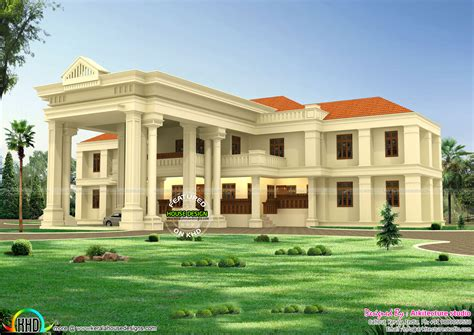 long pillar colonial home design kerala home design floor plans