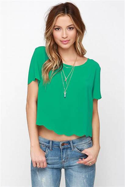 Tops Scallop Chat Outfits Keep