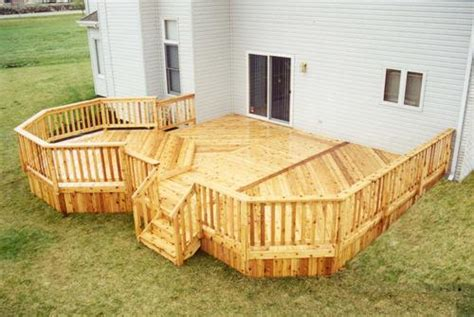 menards deck building plans 18 x 20 deck with 12 octagon building plans only at