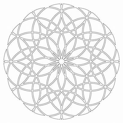 Geometry Sacred Pages Colouring Geometric Mandala Coloring