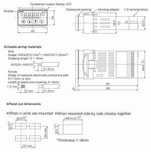 Small  Rapid Strain Gauge Panel Meter Vgm2 Series