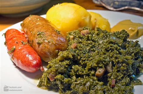 cuisine de norbert grünkohl mit pinkel madame cuisine